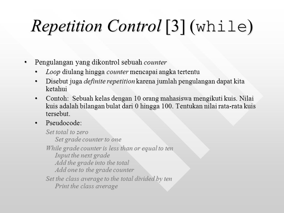 Repetition Control [3] (while)
